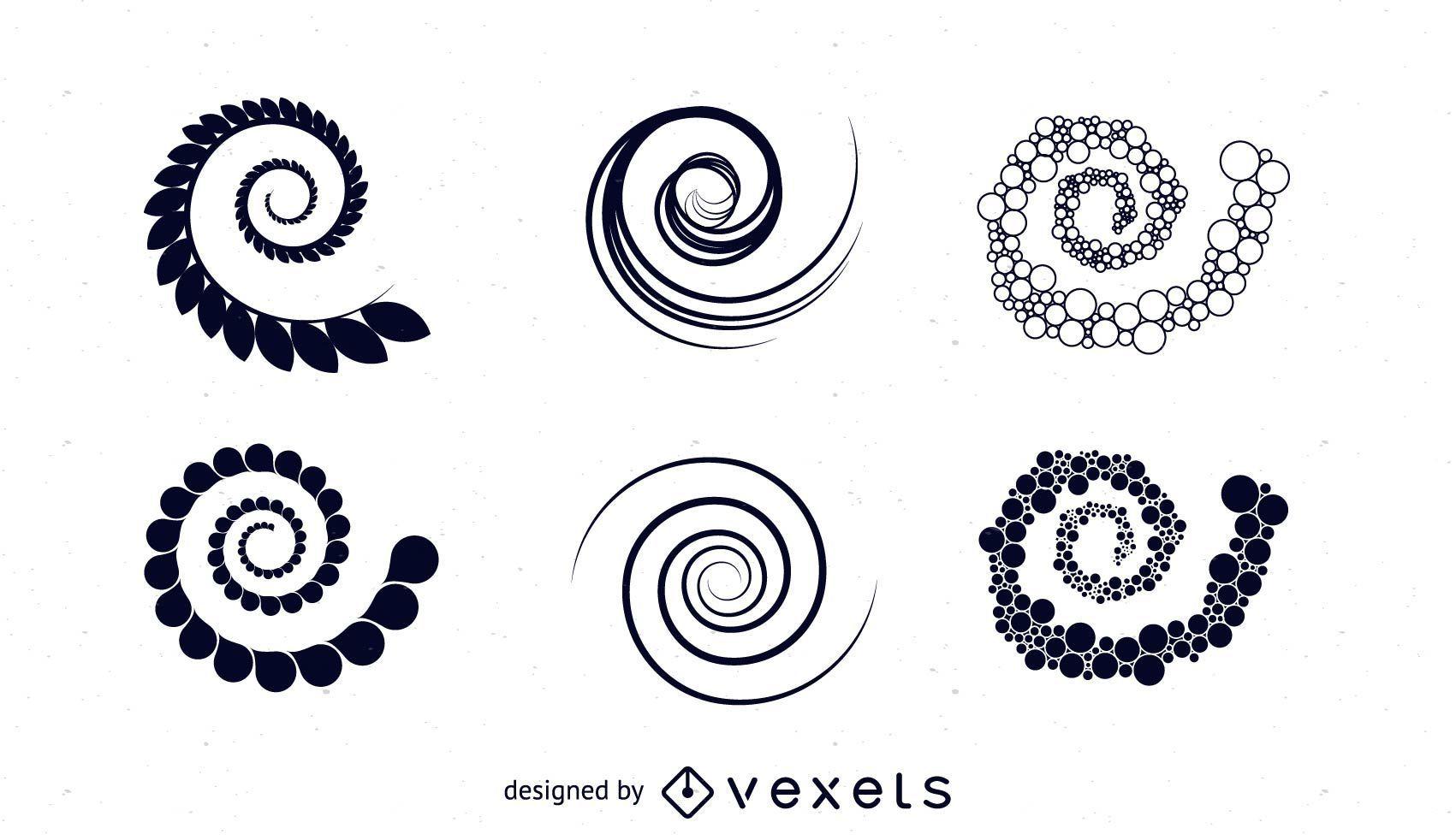 Spiral Vectors Set