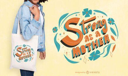 Design de sacola para o dia das mães
