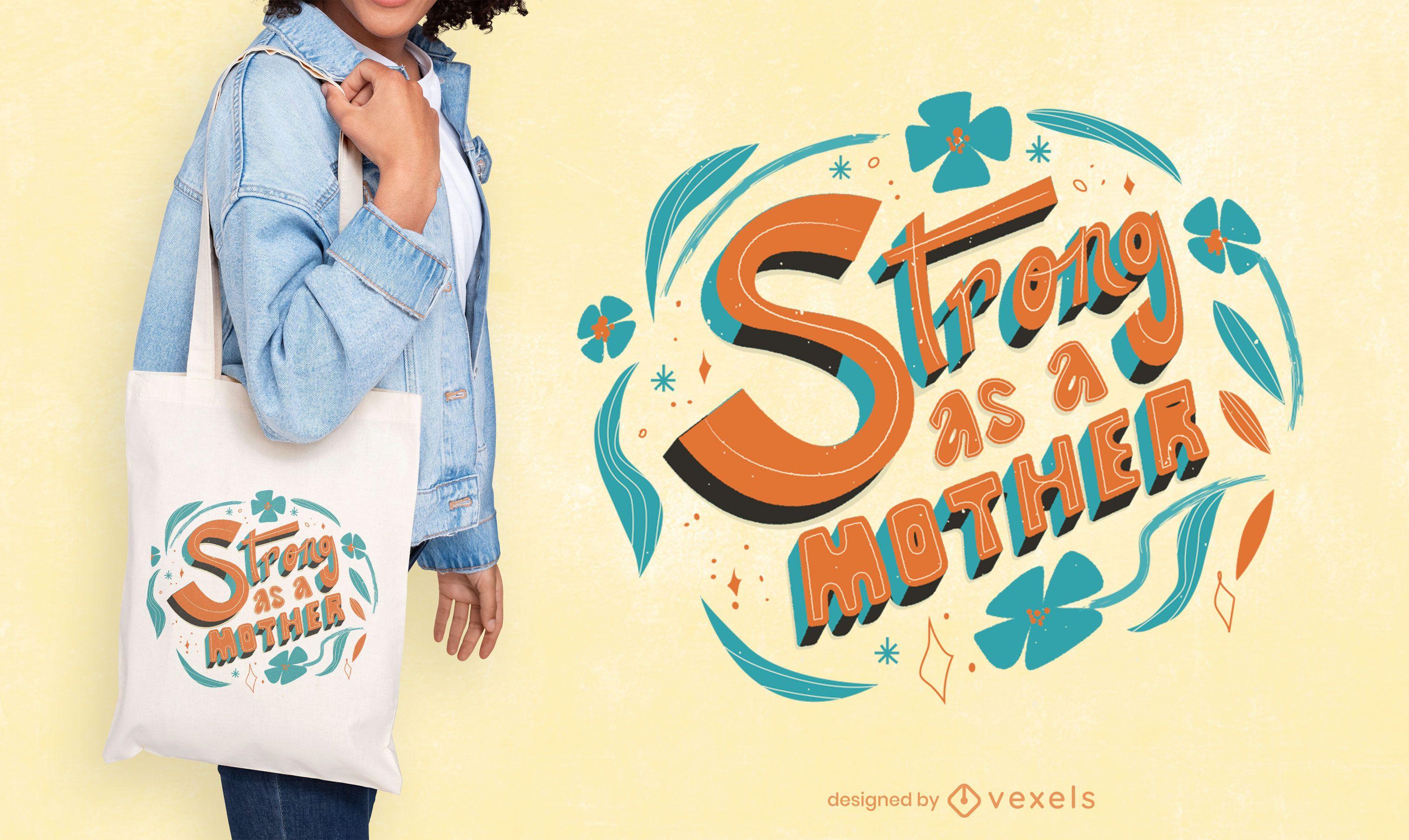 Diseño de bolso de mano para el día de la madre.