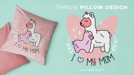 Design de almofada para mãe de lama