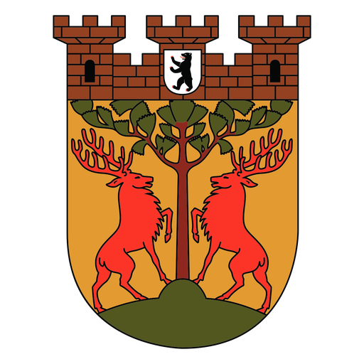 Deers and castle shield
