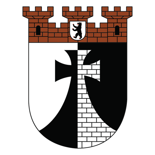 Castle tower cross shield
