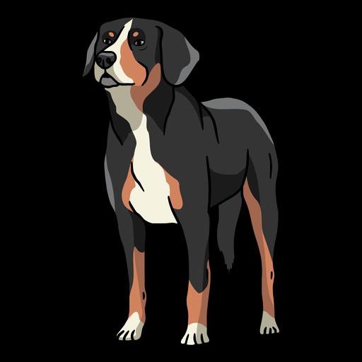Big normal standing dog color stroke
