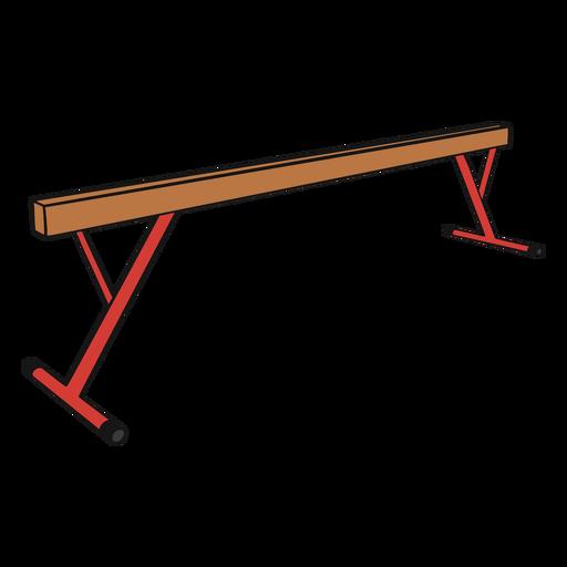 Gymnastics beam color stroke