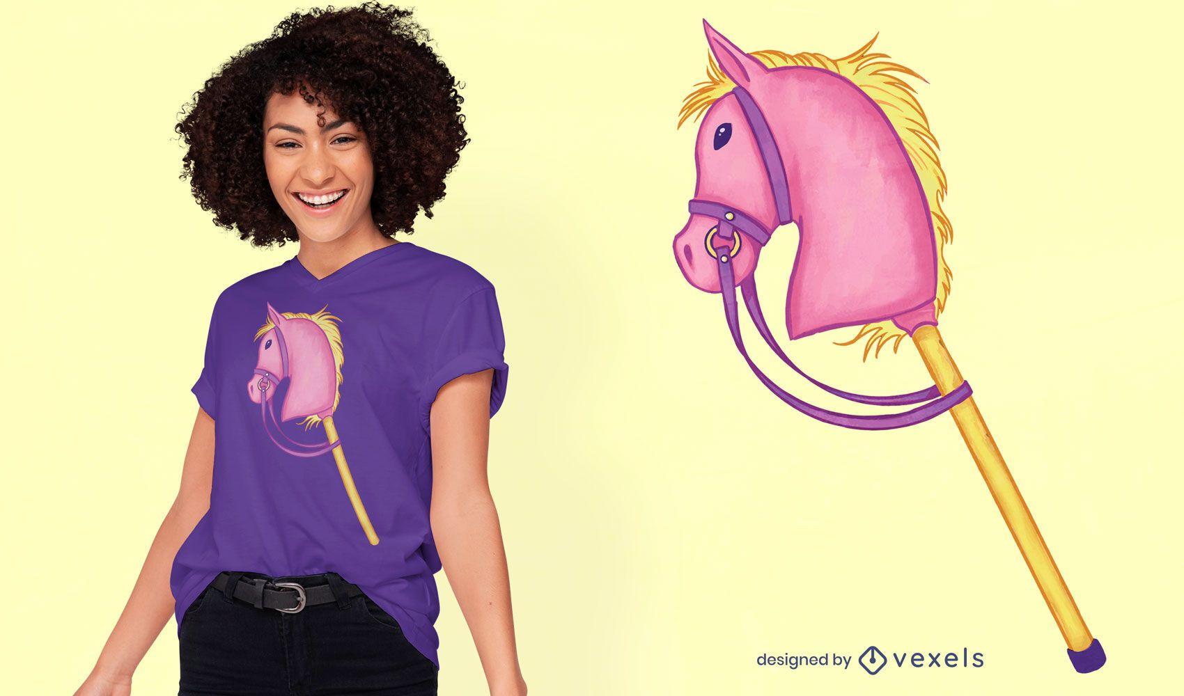 Diseño de camiseta de caballo hobby