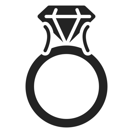 Diamond ring cut out