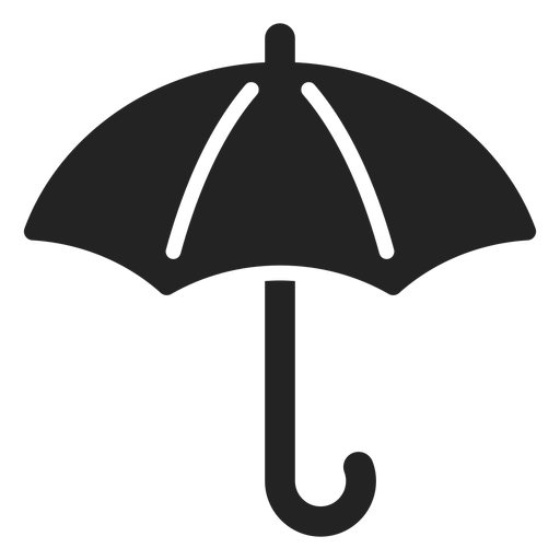 Open umbrella cut out