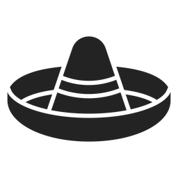 Black and white Mexican hat cut out