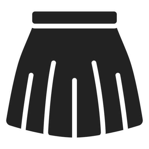 Pleated skirt cut out