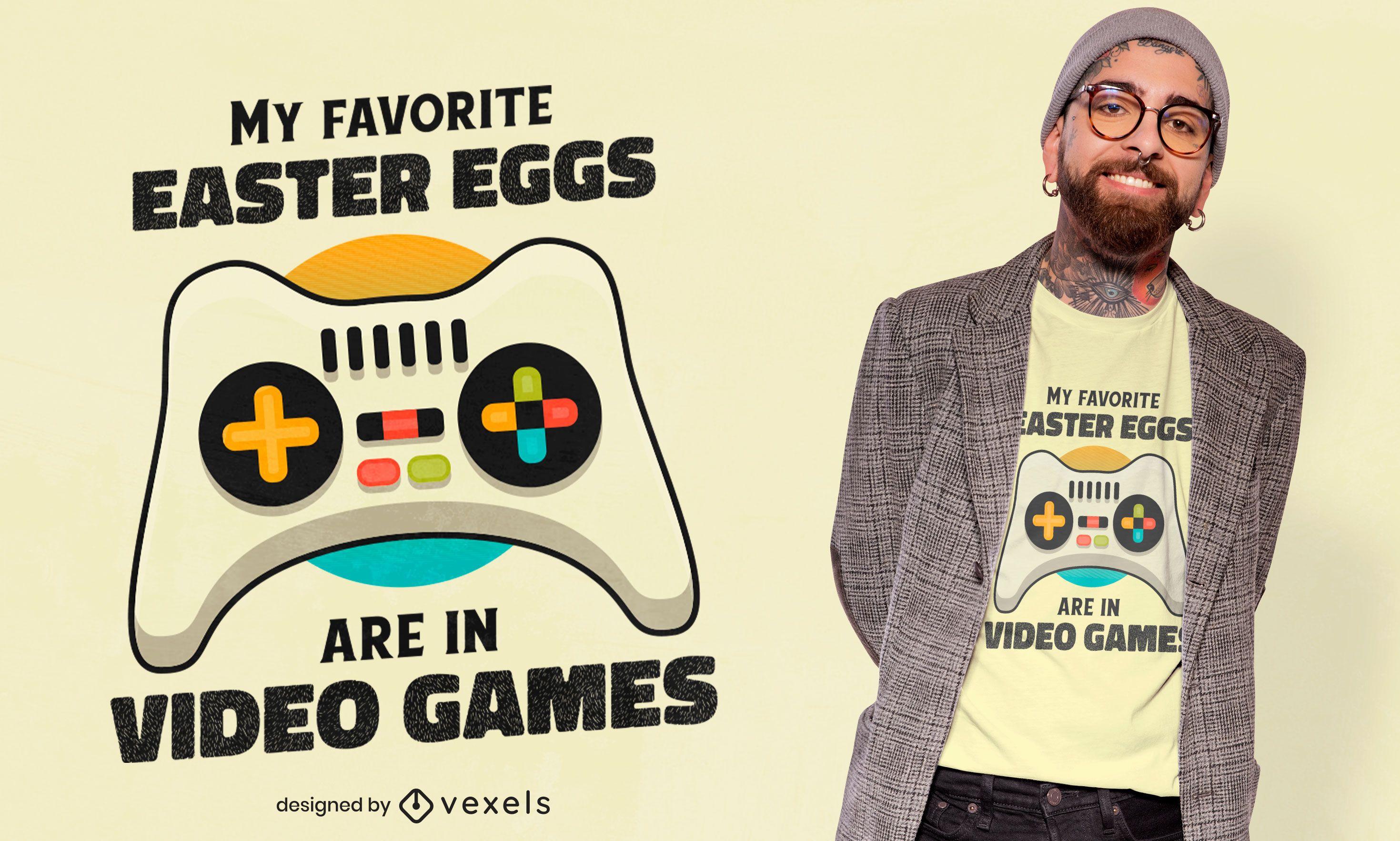 Easter egg video games t-shirt design