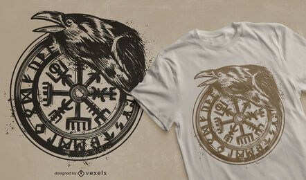 Diseño de camiseta viking vegvisir