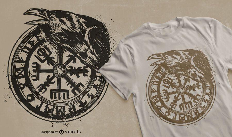 Design de camiseta Viking Vegvisir