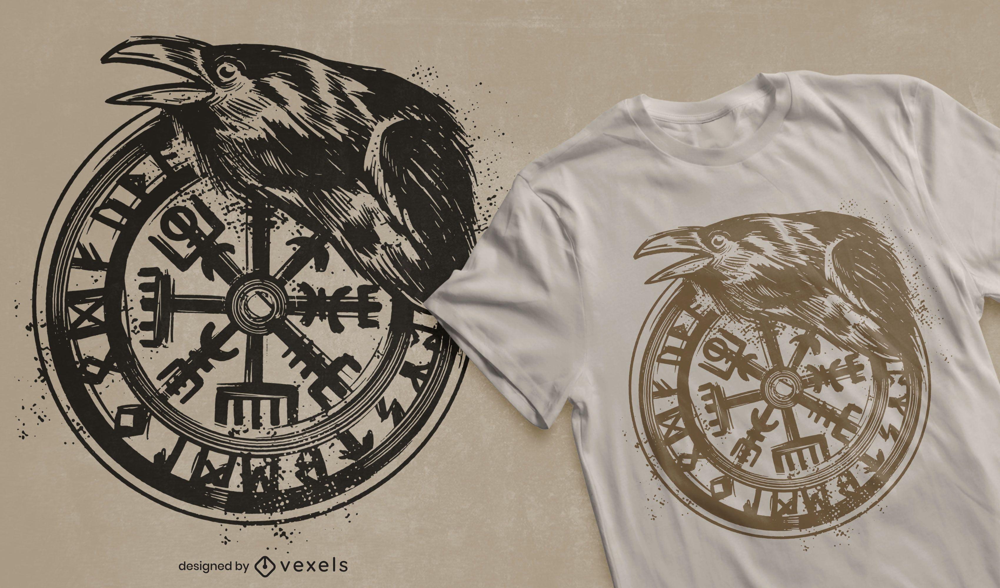 Viking vegvisir t-shirt design