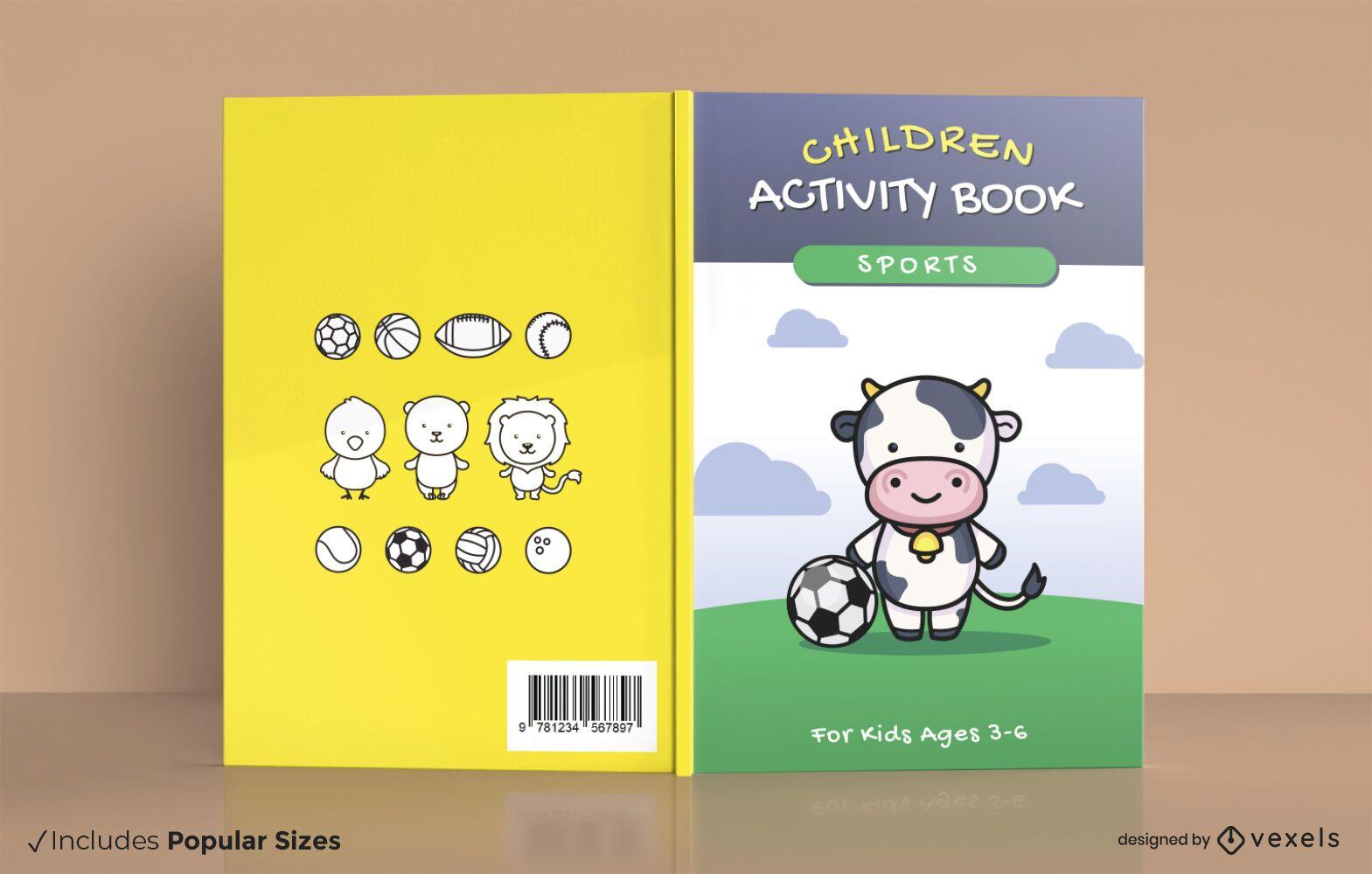 Children sports activity book cover design