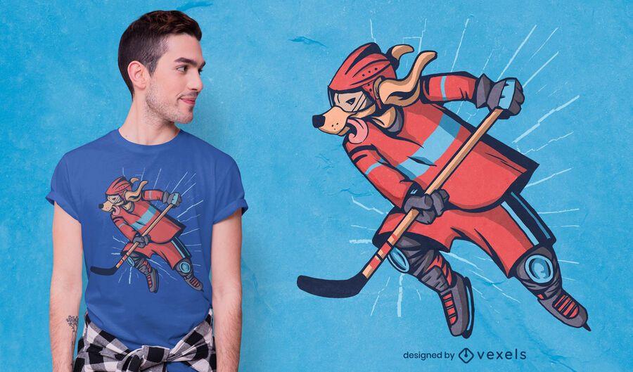 Hockey dog t-shirt design