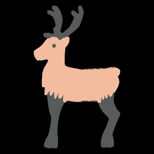 Christmas reindeer flat