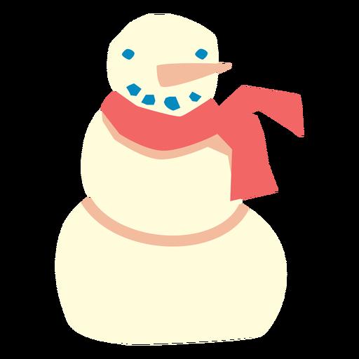 Cute snowman flat