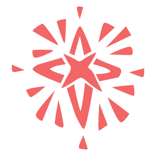 Christmas star cut out