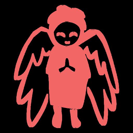 Praying angel cut out