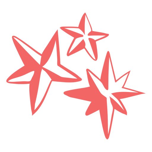 Christmas stars cut out