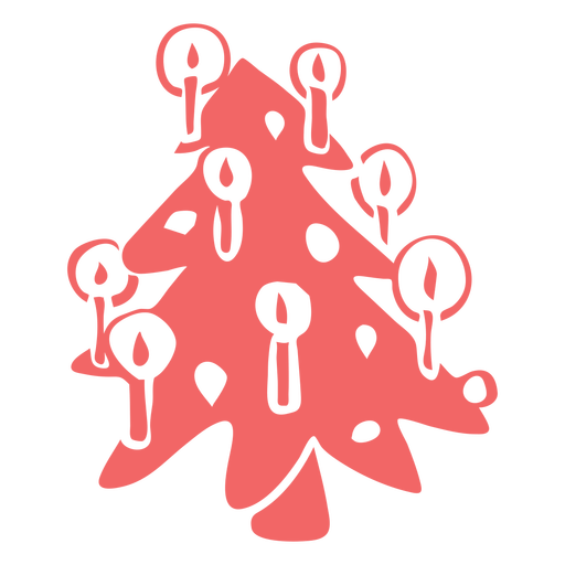 Christmas tree with ornaments cut out