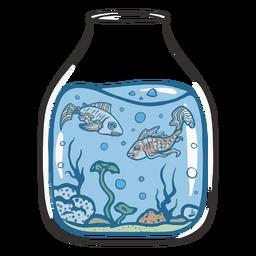 Fishbowl fishes swimming