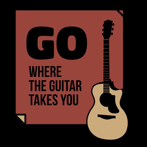 Acoustic guitar quote flat badge