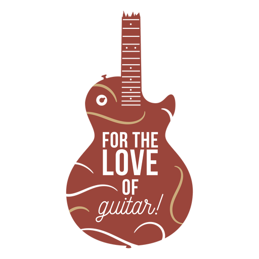 Electric guitar quote flat badge
