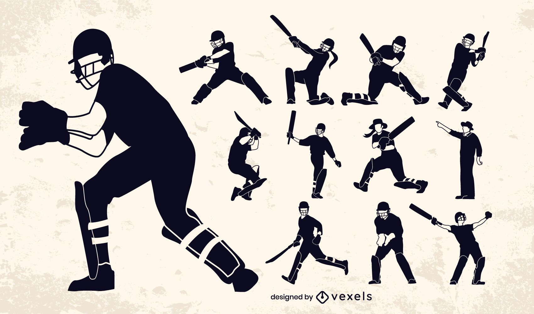 Cricket players positions set