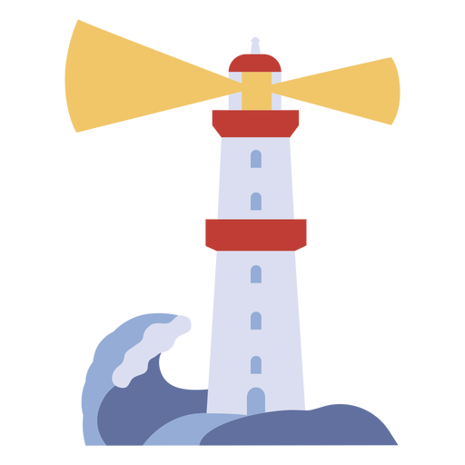 Lighthouse with wave flat