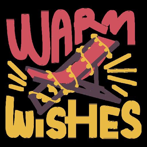Warm wishes christmas beach chair badge