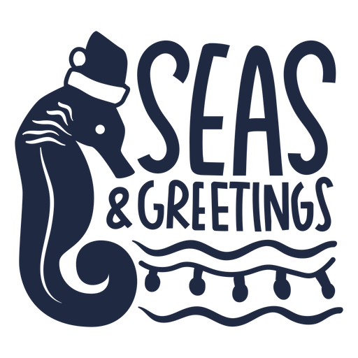 Seahorse christmas badge cut out