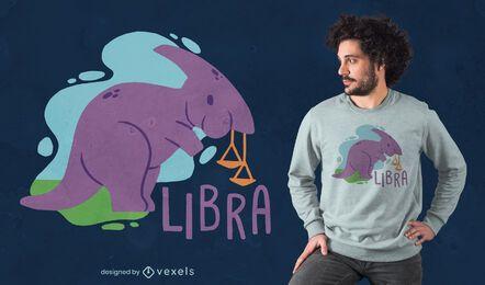 Design de camiseta do dinossauro Libra