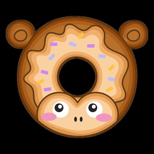 Monkey donut kawaii