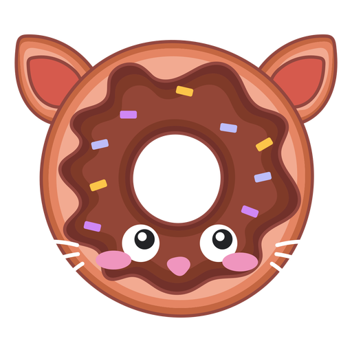 Cat donut kawaii