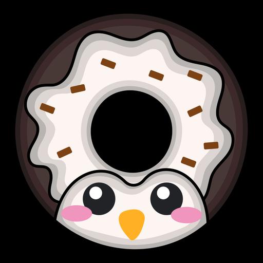 Penguin donut kawaii