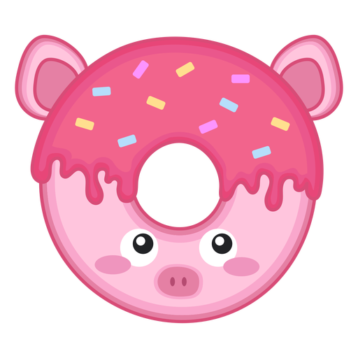 Pig donut kawaii