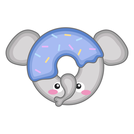 Elephant donut kawaii