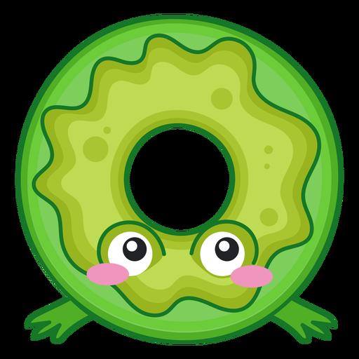 Frog donut kawaii