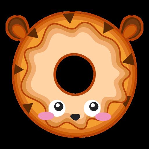 Tiger donut kawaii