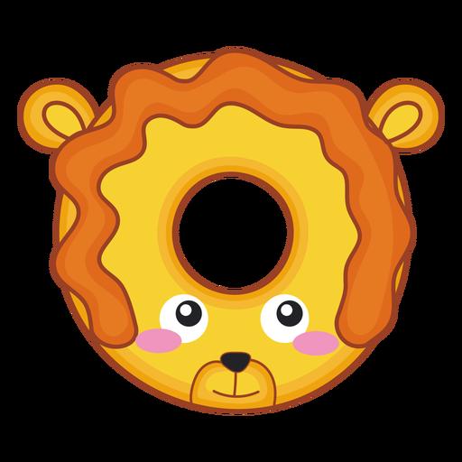 Lion donut kawaii