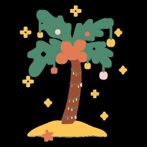 Christmas palm tree flat