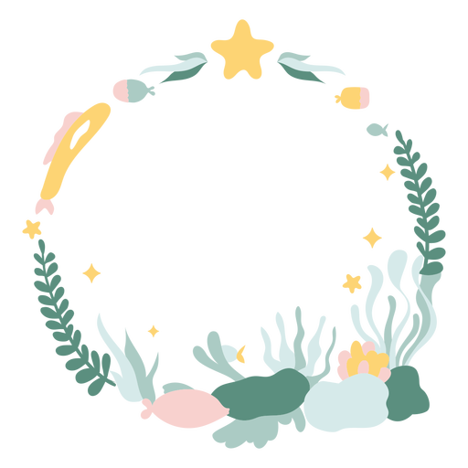 Tropical christmas wreath flat