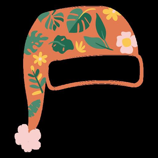 Tropical christmas hat flat