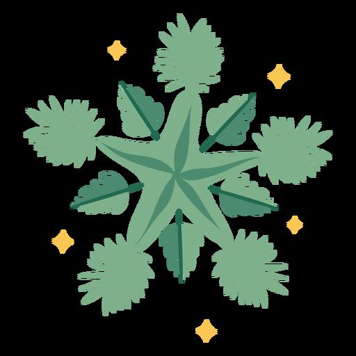 Christmas decoration starfish flat