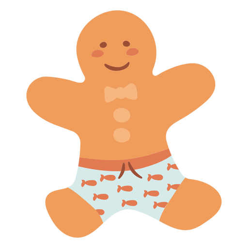 Christmas cookie in shorts flat