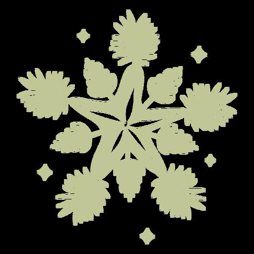 Natal tropical escovado à mão Sillhouette - 0