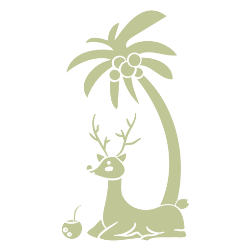 Reindeer and palm with drink cut out