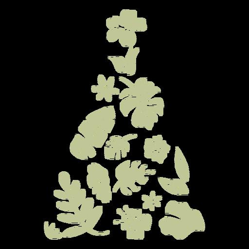 Sillhouette de Natal tropical escovado à mão - 2