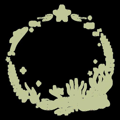 Sillhouette de Natal tropical escovado à mão - 3